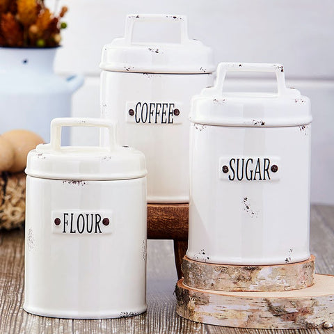 Weathered Farmhouse Canister Set