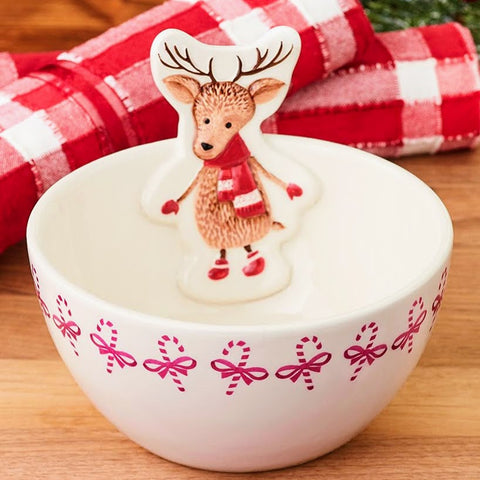 Woodland Character Holiday Bowls