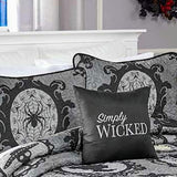 Simply Wicked Embroidered Accent Pillow