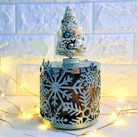 Coastal Christmas Tree Candle Magnet Topper