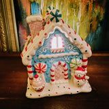 Illuminated Ceramic Gingerbread Houses