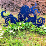 Metal Octopus Decor Stakes