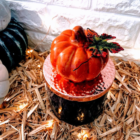 Over-sized Ceramic Pumpkin Candle Lid Magnet