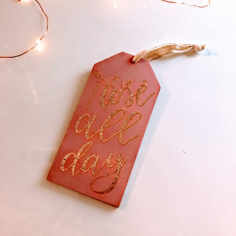 Over-sized Rose Wooden Gift Tag