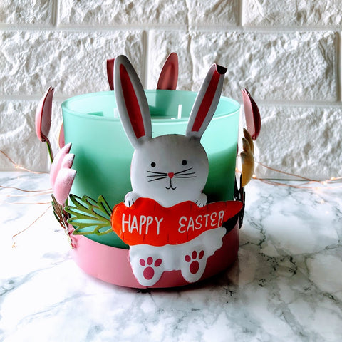 Baby Bunny Easter Candle Holder