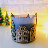 Holiday Gingerbread Village Candle Holder