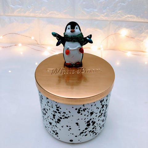 Christmas Penguin Candle Lid Magnet