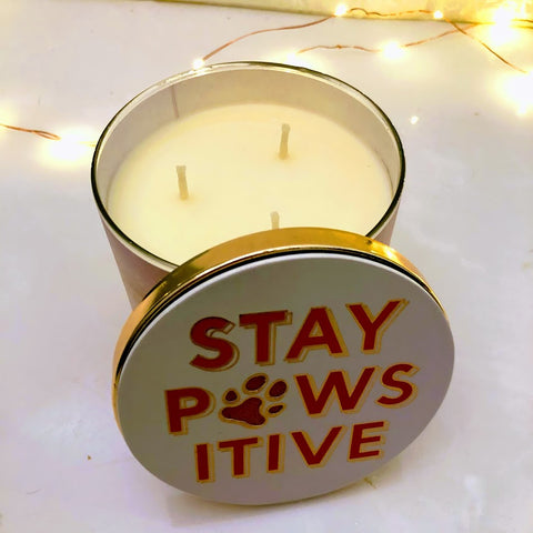 Stay Pawsitive Candle Lid Magnet Cover
