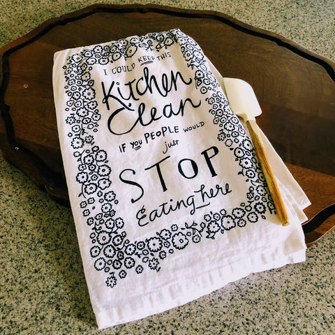 Clean Kitchen Sass Kitchen Towel