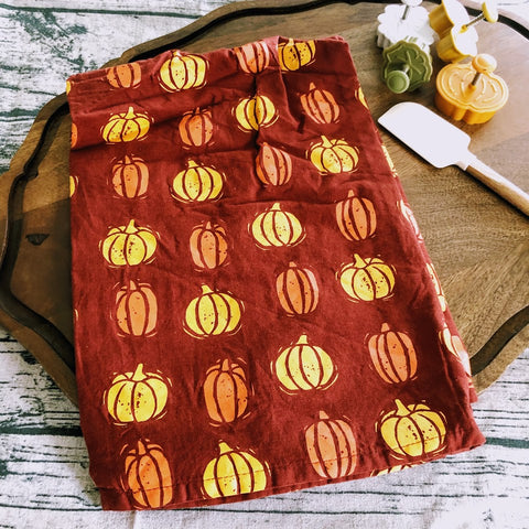 Color Block Pumpkin Kitchen Towel
