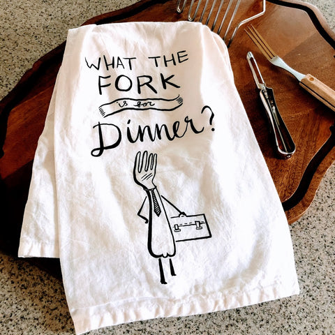 What The Fork? Tea Towel