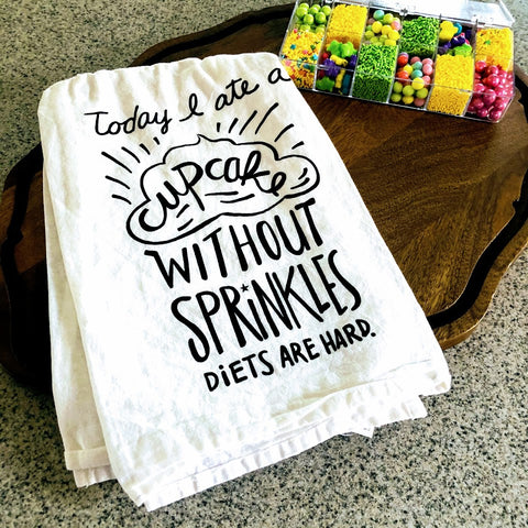Cupcake Diet Tea Towel