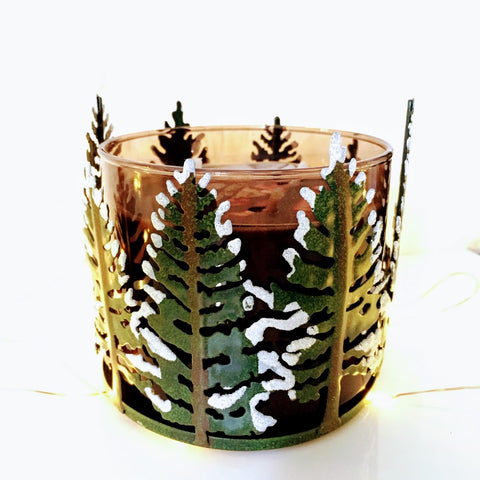 Frosted Forest: 3-Wick Candle Holder