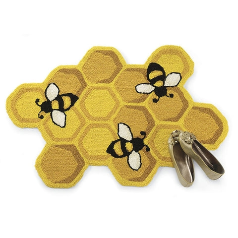Honeycomb & Bees Rug - Holt Bros. Mercantile