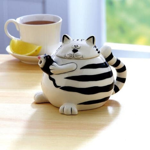 Cat & Mouse Teapot - Holt Bros. Mercantile