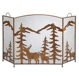 Wrought-Iron Rustic Woodland Fireplace Screen - Holt Bros. Mercantile  - 3