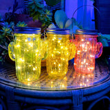 Solar Fairy Light Cactus Jars
