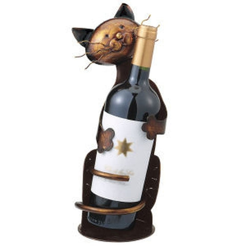 Cat Wine Bottle Holder - Holt Bros. Mercantile