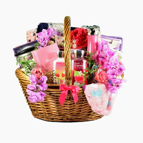 Pink Warrior Breast Cancer Gift Basket