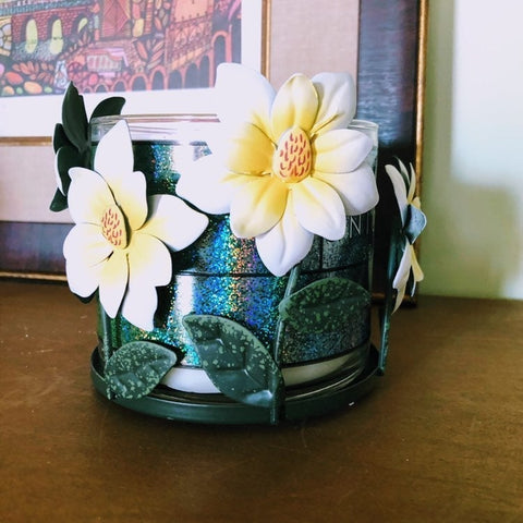 Spring Flowers Candle Holder