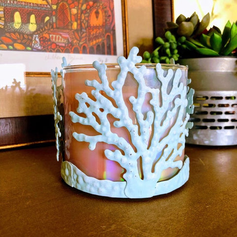 Tropical Coral Candle Holder