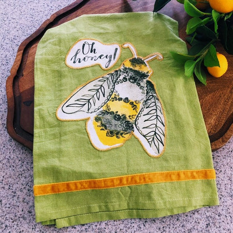 Oh Honey, Bee Kitchen Towel