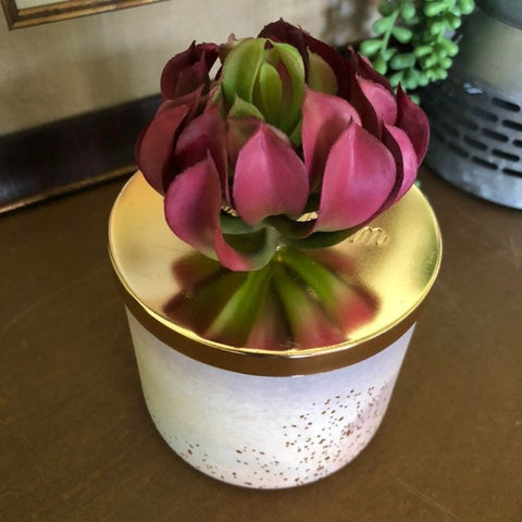 Desert Rose Succulent Candle Topper