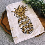 Welcoming Pineapple Kitchen Towel