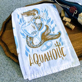 Aquaholic Mermaid Kitchen Towel