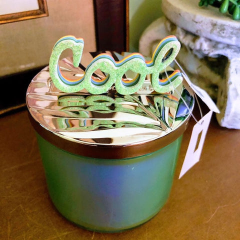 Colorful Ribbon Taffy Candle Lid Magnet
