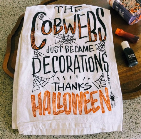 Halloween Cobwebs Kitchen Towel