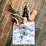Cotton Mermaid Market Tote Bag