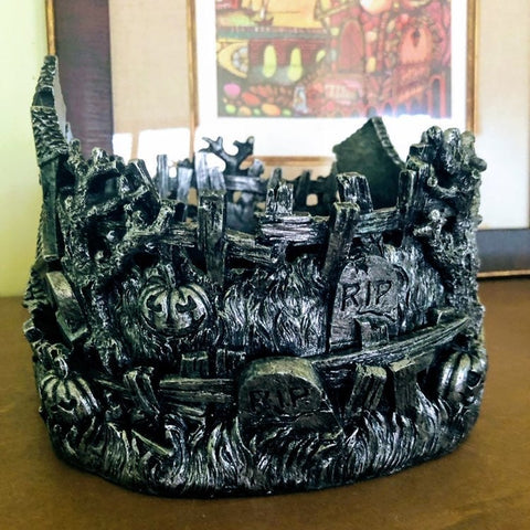 Haunted Village Candle Holder