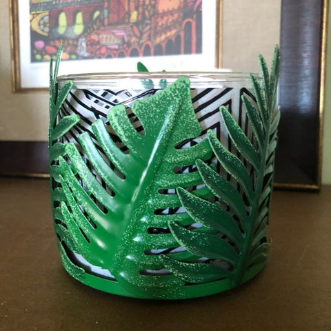 Palm Leaves Candle Holder