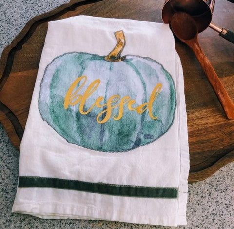 Blessed Heirloom Pumpkin Kitchen Towel