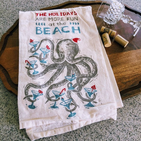 Holidays at the Beach Kitchen Towel