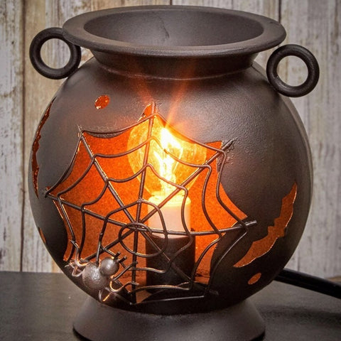 Spider Web Cauldron Fragrance Warmer