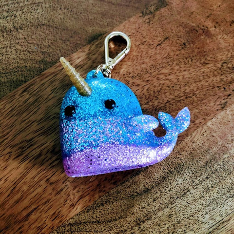 Glitter Narwhal Sanitizer Holder