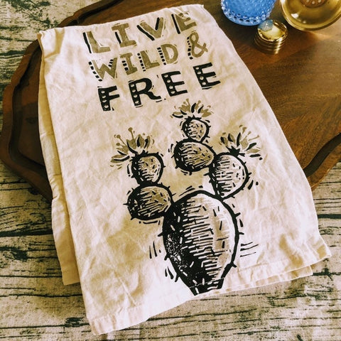 Live Wild & Free Kitchen Towel