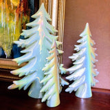 Porcelain Iridescent Slim Holiday Trees