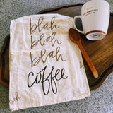 Blah Blah Coffee Kitchen Towel