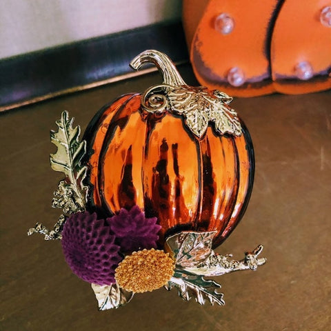 Mercury Glass Pumpkin Fragrance Plug