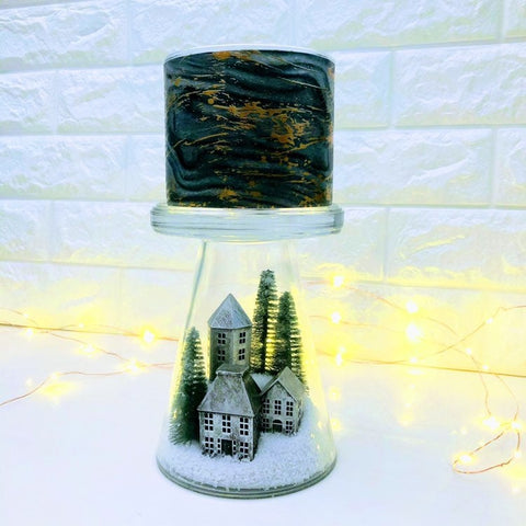 Nordic Village Glass Candle Pedestal