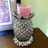 Antiqued Silver Pineapple Candle Holder