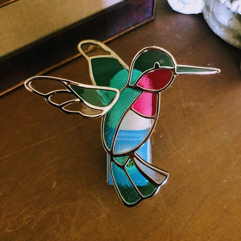 Stained Glass Hummingbird Fragrance Plug