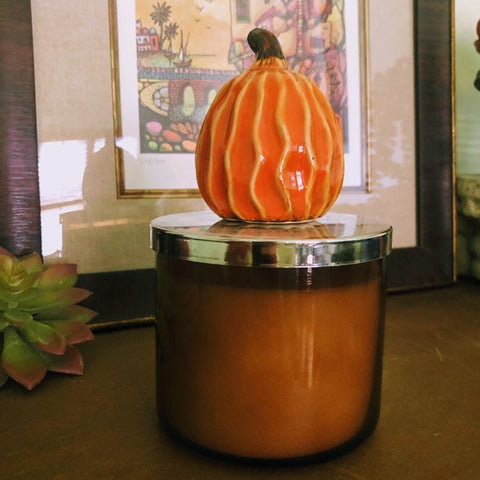 Country Classic Pumpkin Candle Lid Magnet