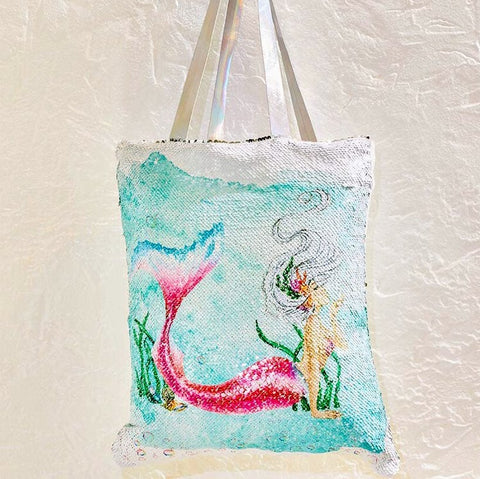 Reversible Sequin Sultry Mermaid Tote