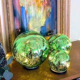 Colorful Lighted Mercury Glass Orbs