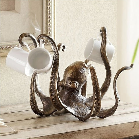 Octopus Mug Rack - Holt Bros. Mercantile  - 1