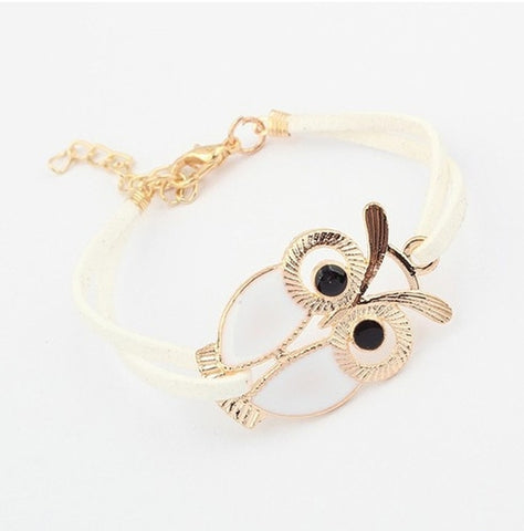 Owl Charm Leather Bracelet - Holt Bros. Mercantile